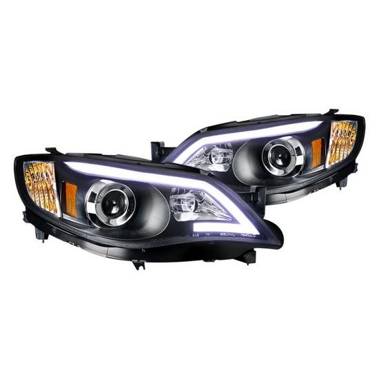 2008-2013 Subaru IMPREZZA Black Housing Projector Headlights