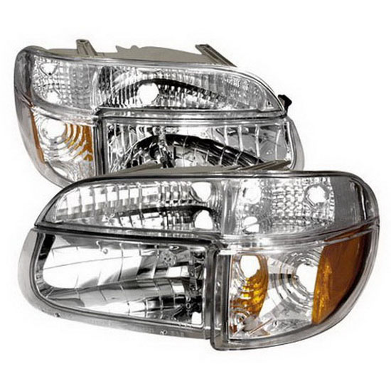 95 01 Ford Explorer Chrome Euro Headlights