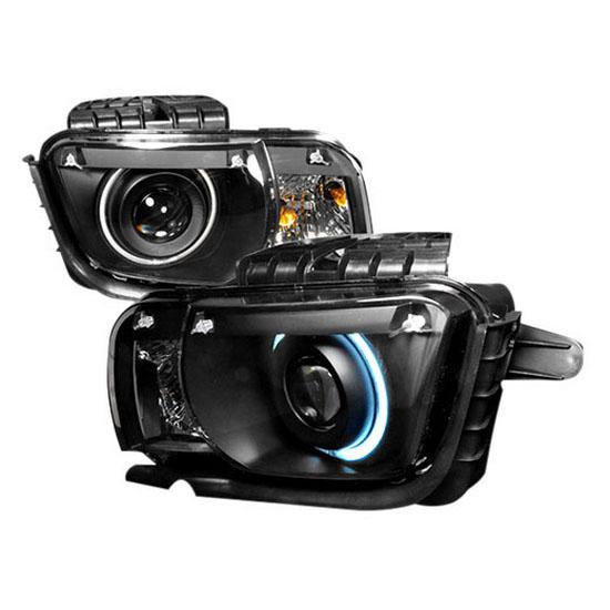 2010 and up Chevrolet CAMARO Black Housing Single CCFL Halo Angel Eyes Projector Headlights