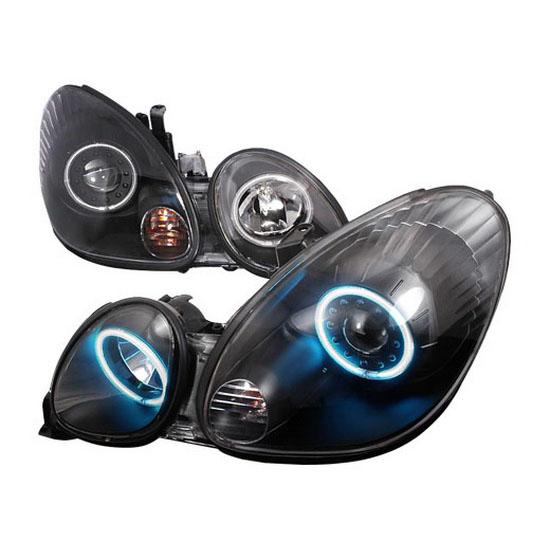 98-05 Lexus GS300 GS400 GS430 Black Housing Dual CCFL Halo Angel Eyes Projector Headlights