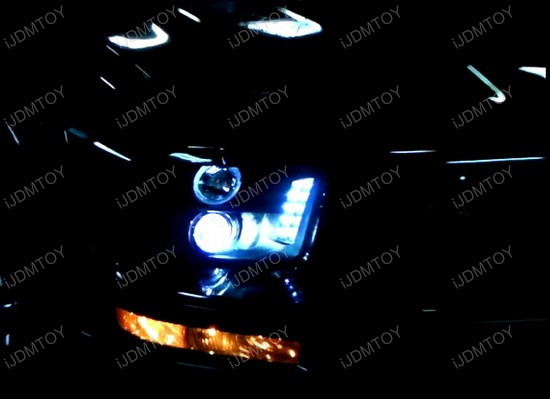 05-09 Ford MUSTANG Black Housing Dual CCFL Halo Angel Eyes Projector LED Headlights
