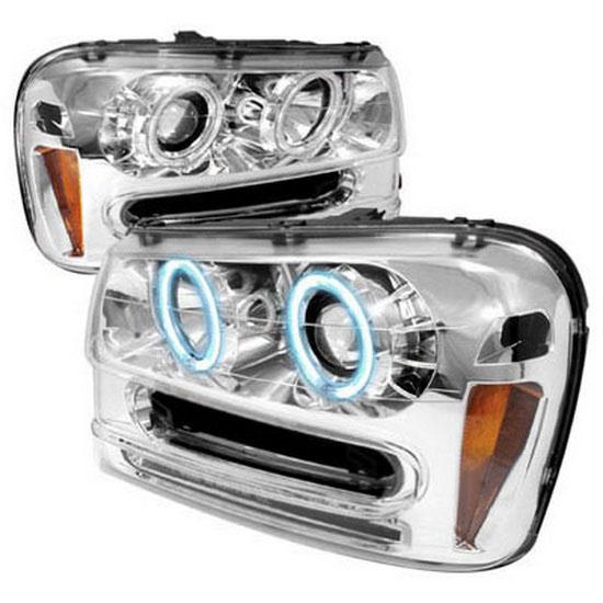 02 05 Chevrolet Trailblazer Chrome Ccfl Halo Projector Led Headlights