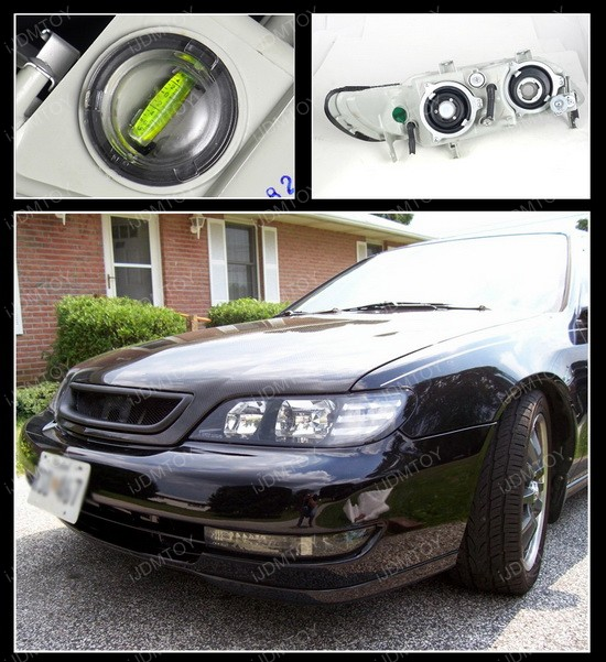 Acura CL Black Euro Headlights - Acura cl 97