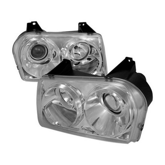 2005-2011 Chrysler 300 Chrome Housing Projector Headlights