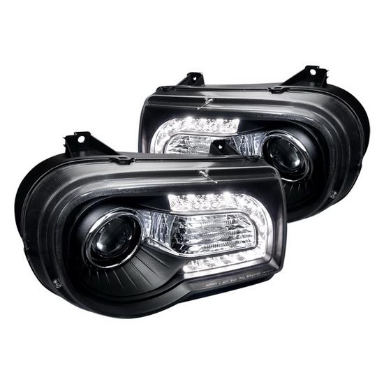 2005-2010 Chrysler 300C Black Housing Projector Headlights