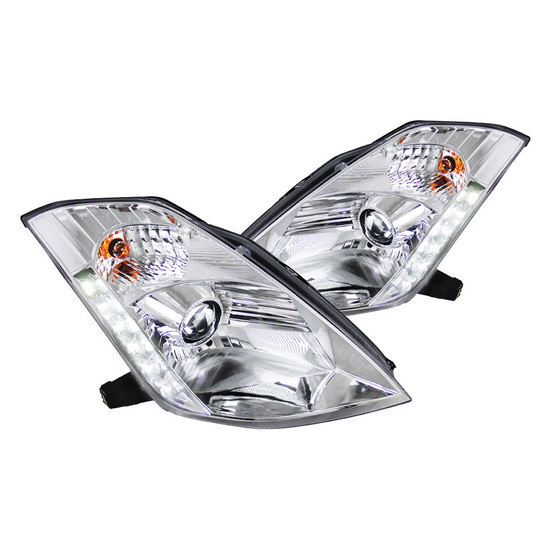 2003-2005 Nissan 350Z Chrome Housing Projector Headlights