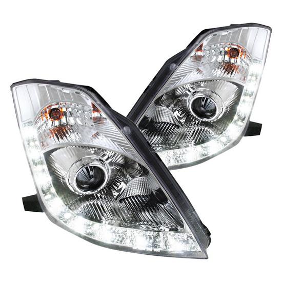 2006 Nissan 350Z Chrome Housing Projector Headlights