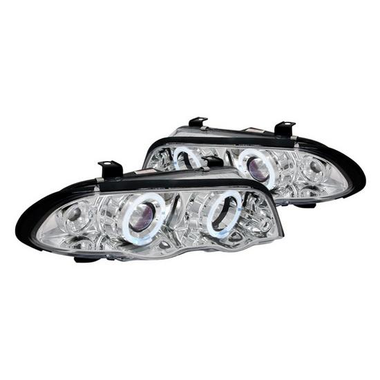99-01 BMW E46 3 Series Sedan Chrome Housing Halo Projector Headlights