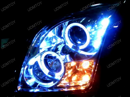 06-09 Ford FUSION Chrome Housing Dual Halo Angel Eyes Projector LED Headlights