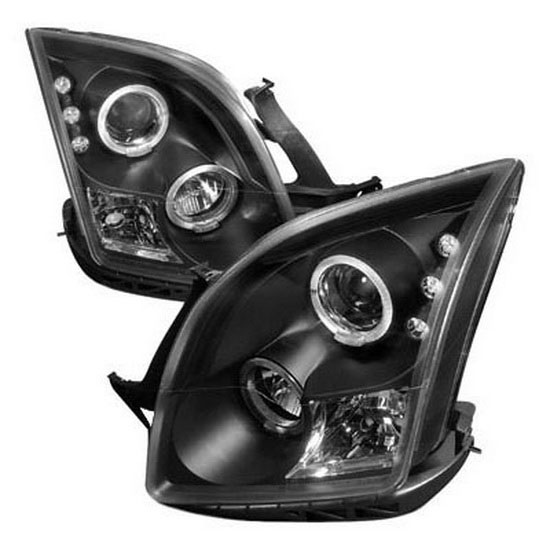 06-09 Ford FUSION Black Housing Dual Halo Angel Eyes Projector LED Headlights