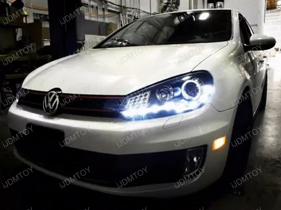 09 12 Volkswagen Golf Gti Black R8 Style Halo Angel Eye