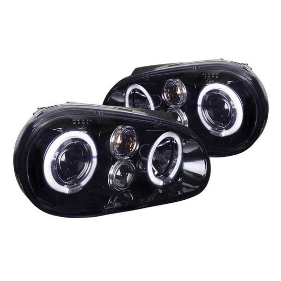1999-2003 Volkswagen GOLF Black Housing Projector Headlights