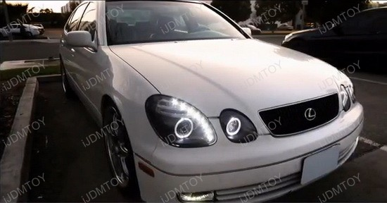 LHP GS30098 RS 5 98 05 lexus gs300 gs400 gs430 chrome dual halo projector led HID Ballast Schematic at bayanpartner.co