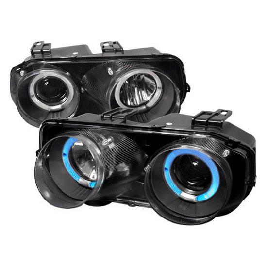 94-97 Acura INTEGRA Black Halo Angel Eyes Projector Headlights