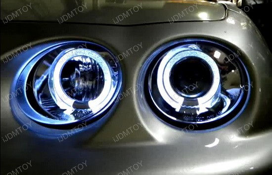 98-01 Acura INTEGRA Chrome Halo Angel Eyes Projector Headlights