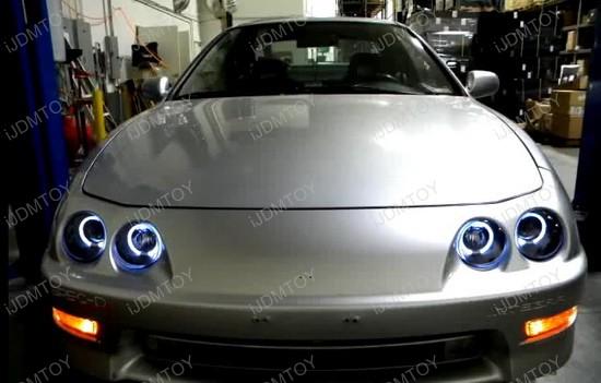 Acura INTEGRA Chrome Halo Angel Eyes Projector Headlights - Acura integra headlights
