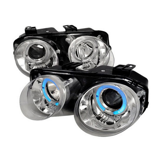 Acura Integra Headlights: 98-01 Acura INTEGRA Chrome Halo Angel Eyes Projector