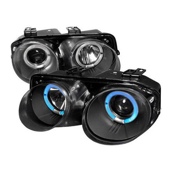 98-01 Acura INTEGRA Black Halo Angel Eyes Projector Headlights