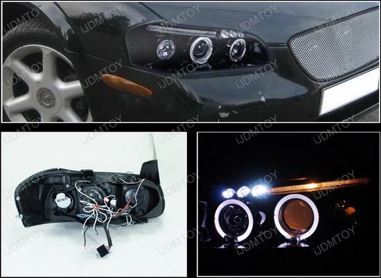 LHP MAX00G TM 4 00 01 nissan maxima black dual halo rings projector led headlights 2000 nissan maxima headlight wiring harness at cos-gaming.co