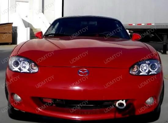 01 05 Mazda Miata Base Convertible Ls Mazdasd Chrome Housing Dual
