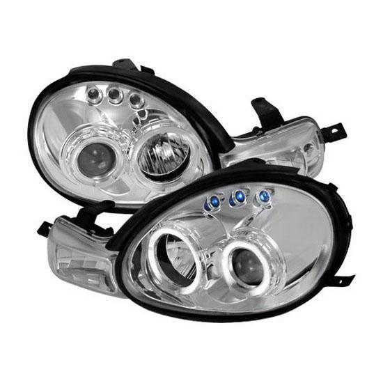 LHP NEO00 TM 00 02 dodge neon chrome dual halo angel eyes projector headlights 2003 Dodge Neon at soozxer.org