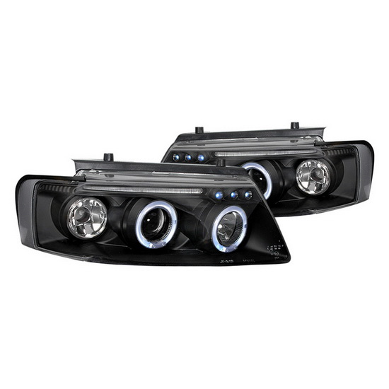 97-00 Volkswagen PASSAT Black Housing Halo LED Projector Headlights