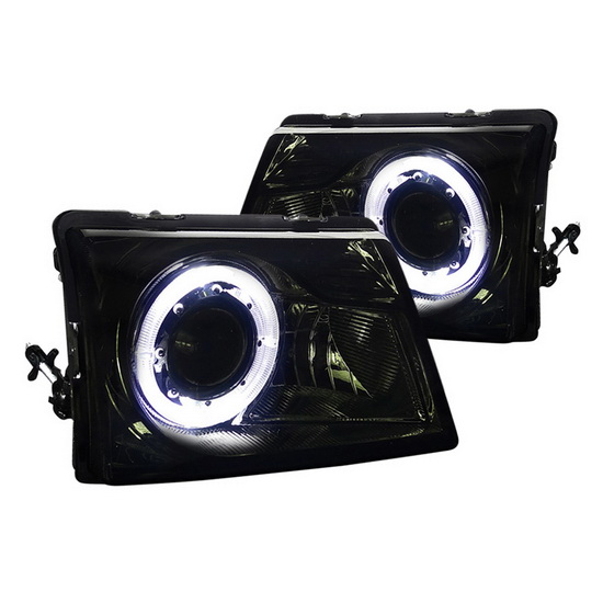 1998-2001 Ford RANGER Chrome Housing Halo Projector Headlights