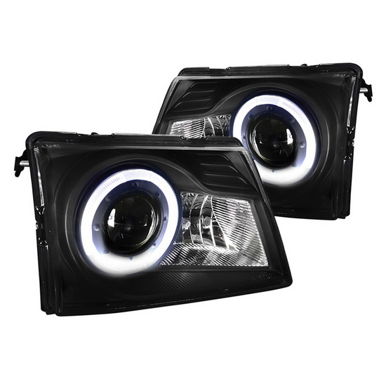 98 Ford Ranger Headlamp : Ford ranger black housing halo projector headlights