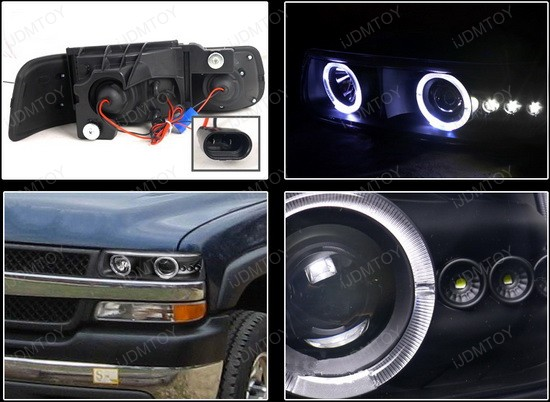 LHP SIV99JM RS 4 99 02 chevrolet silverado black dual halo projector led headlights Wiring Halos to Parking Light at nearapp.co