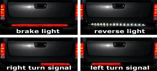 Tailgate led strip for reverse lights only jeepforum mozeypictures Choice Image