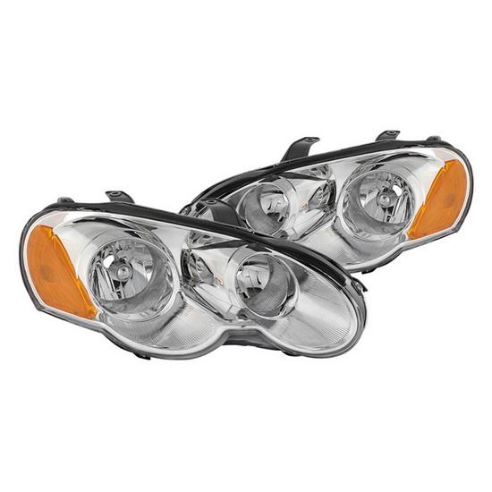 2003-2005 Chrysler Sebring 2dr Coupe Chrome Housing Euro Headlights