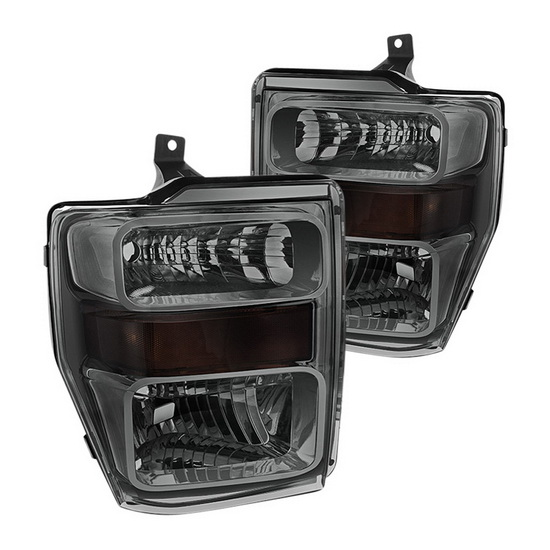2008-2010 Ford F250/350/450 Super Duty Smoke Housing OEM Headlights
