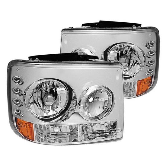 1999-2002 Chevy Silverado 1500/2500 Chrome Housing Conversion Euro Headlights