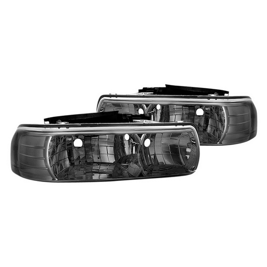 1999-2002 Chevy Silverado 1500/2500 Smoke Housing Crystal Headlights