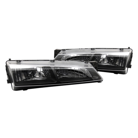 1997-1998 Nissan 240SX Black Housing Crystal Headlights