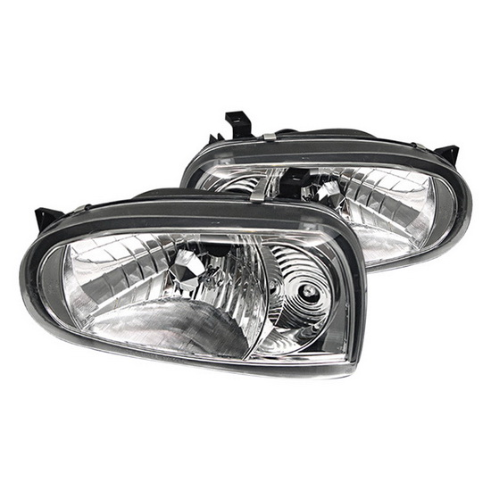 1993-1998 Volkswagen Golf III Chrome Housing Crystal Headlights