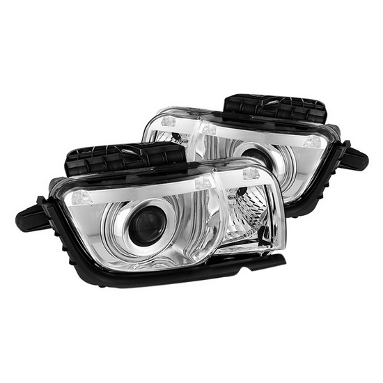 2010-2013 Chevy Camaro Chrome Housing CCFL Halo Projector Headlights