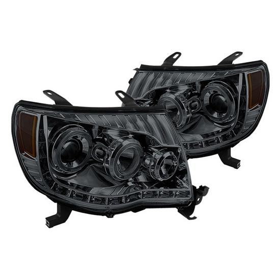 2005-2011 Toyota Tacoma Smoke Housing Halo Projector Headlights