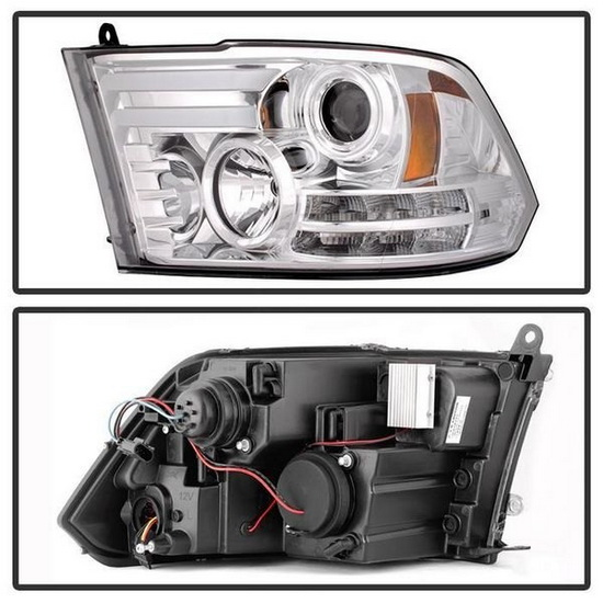 2009-2012 Dodge Ram LED Projector Headlights with Light Bar DRL