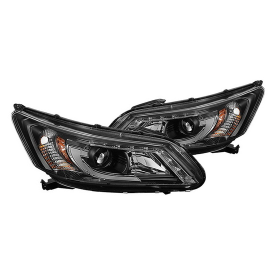 2013-2015 Honda Accord 4DR Black Housing Projector Headlights