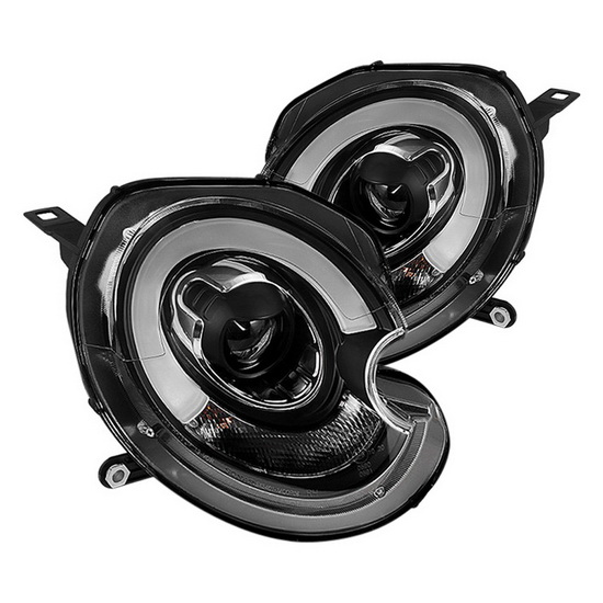 2007-2012 Mini Cooper Black Housing Projector Headlights