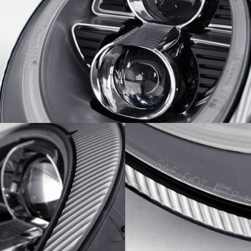 2005-2009 Porsche 911 997 Silver Housing Projector Headlights