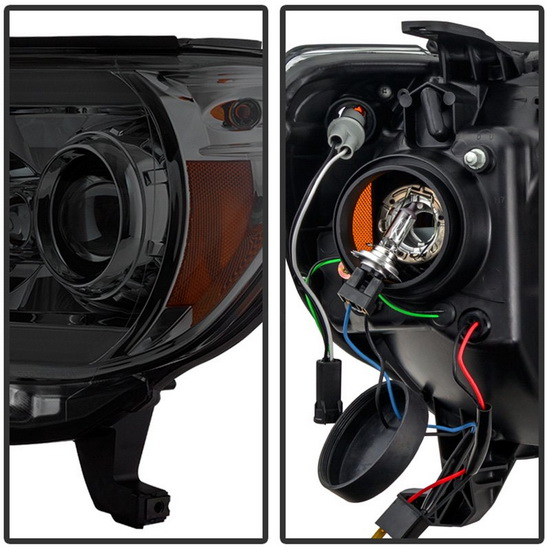 2012-2015 Toyota Tacoma Smoke Housing LED Projector Headlights
