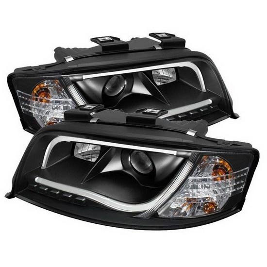 2001 Audi Tt Headlights: 2002-04 Audi A6 Black Projector Headlights