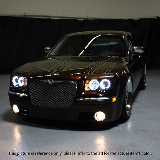 2005 10 Chrysler 300c Smoke Led Halo Led Projector Headlights