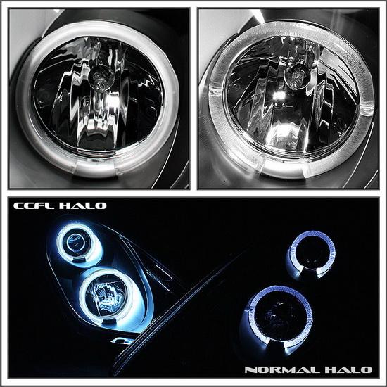 2005-2008 Chrysler 300 Chrome Housing CCFL Halo Angel Eyes LED Projector Headlights