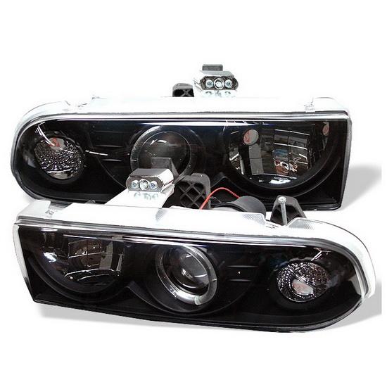 1998-2004 Chevrolet S10 Blazer Black Housing LED Halo Angel Eyes Projector Headlights
