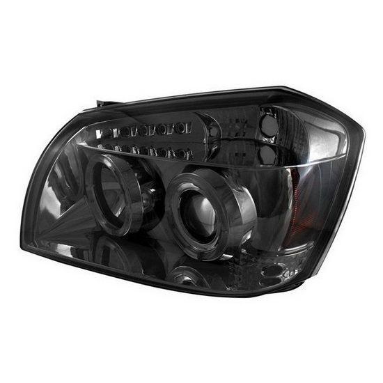 2005-2007 Dodge Magnum Smoke Housing LED Halo Angel Eyes LED Projector Headlights