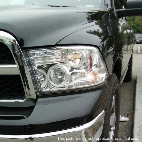 2009 14 Dodge Ram 1500 Black Ccfl Halo Led Projector