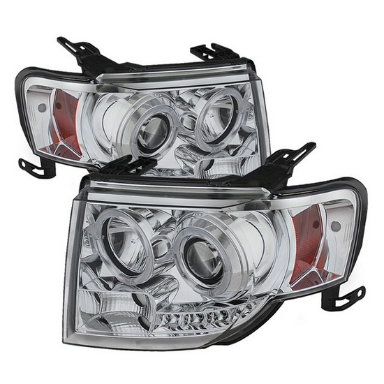 2008-2012 Ford Escape Chrome Housing Projector Headlights with LED DRL